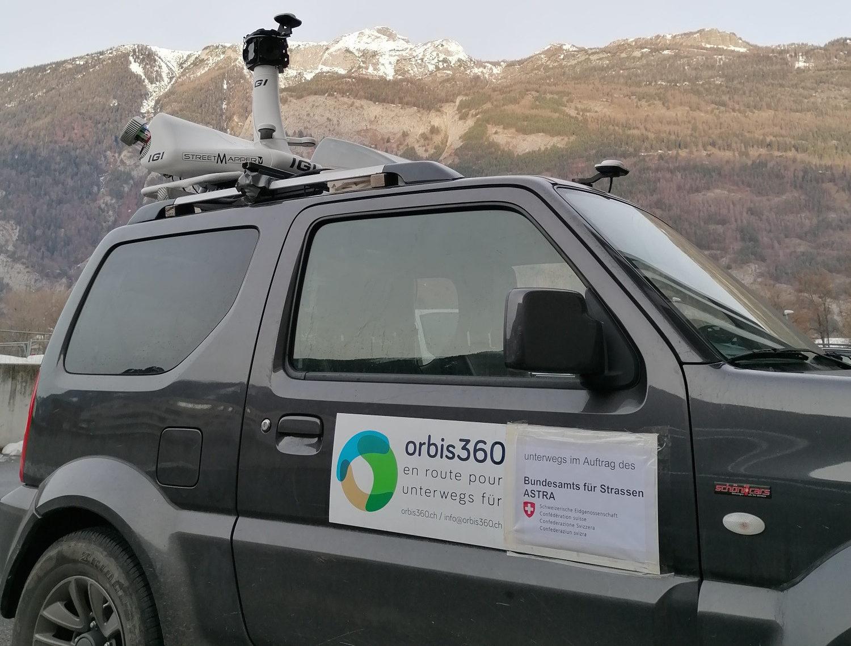 Mobile Mapping auf dem Autobahnabschnitt Landquart - Bad Ragaz